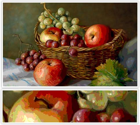 طرح معرق تفکیک رنگ سبد میوه ، معرق میوه ، معرقکاری سبد میوه ، الگوی معرق سبد میوه،معرق سب و انگور ، الگوی معرقکاری سبد میوه، دانلود سبد میوه