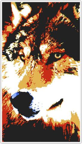 طرح معرق گرگ ، معرق گرگ، معرق تفکیک رنگ گرگ،الگوی گرگ،تابلو گرگ
