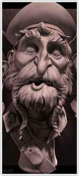 طرح منبت سه بعدی، دانلود الگوی منبت چهره،طرح منبت کاری چهره،منبت پیرمرد