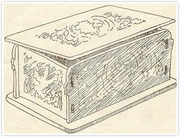 طرح معرق مشبک جعبه چوبی