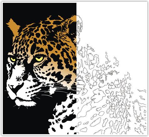 طرح معرق تفکیک رنگ لئوپارد،دانلود الگوی معرق تفکیک رنگ ، دانلود طرح معرق حیوانات