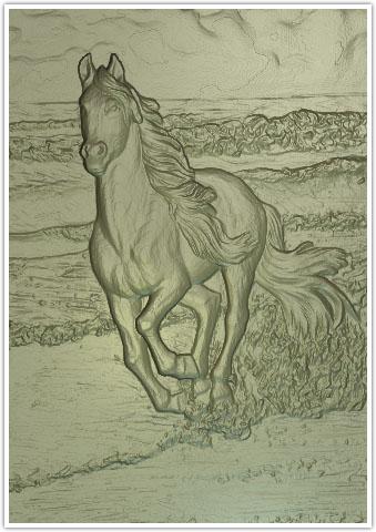 الگوی منبت اسب،دانلود طرح منبت اسب،اسب منبت کاری شده،