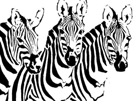 طرح معرق مشبک دو بعدی گورخر،معرق گور خر،zebraT